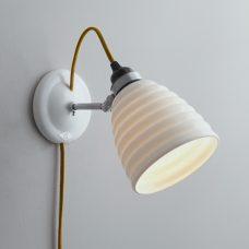 Original Btc Hector Bibendum Plug Switch & Cable Wall Light Yellow On