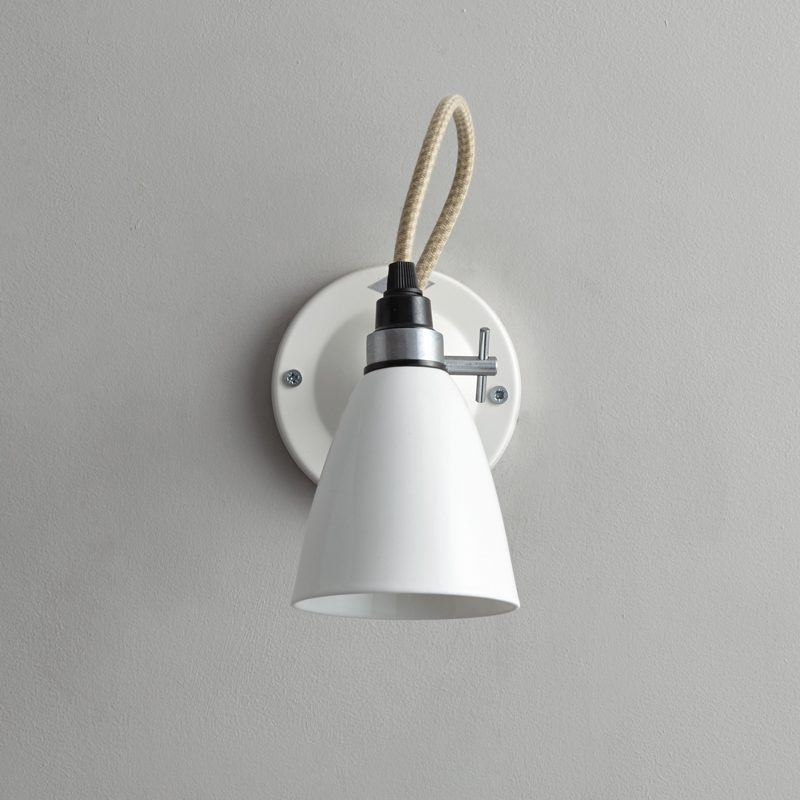 Original Btc Hector Small Dome Switched Wall Light White C Off