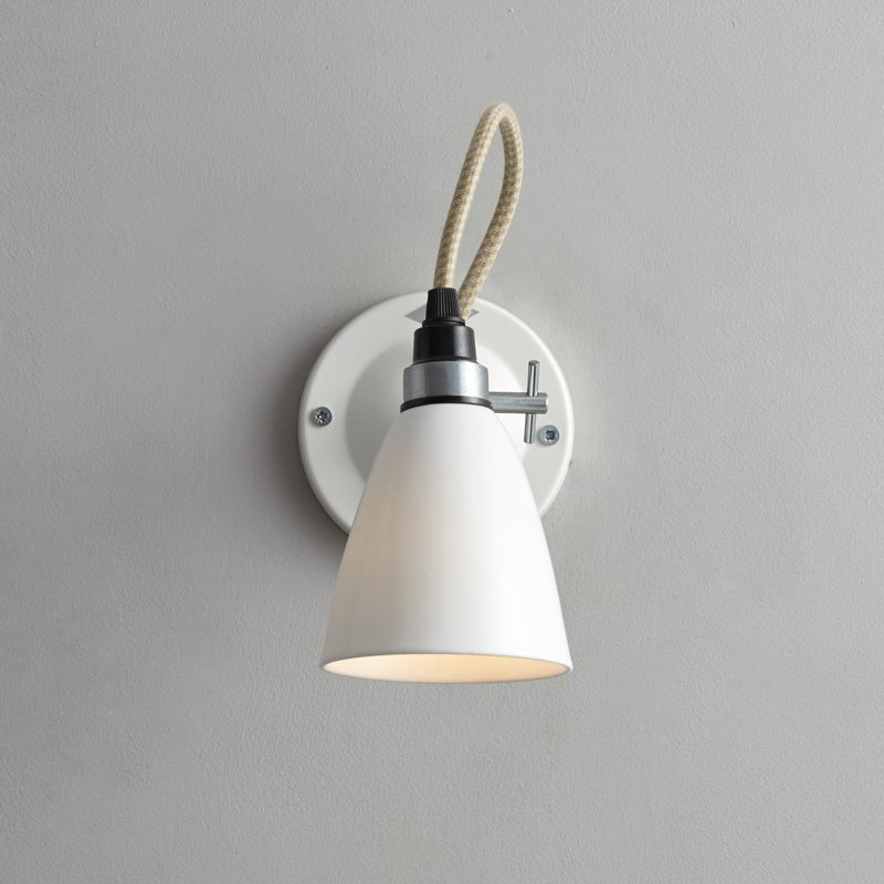 Original Btc Hector Small Dome Switched Wall Light White C On
