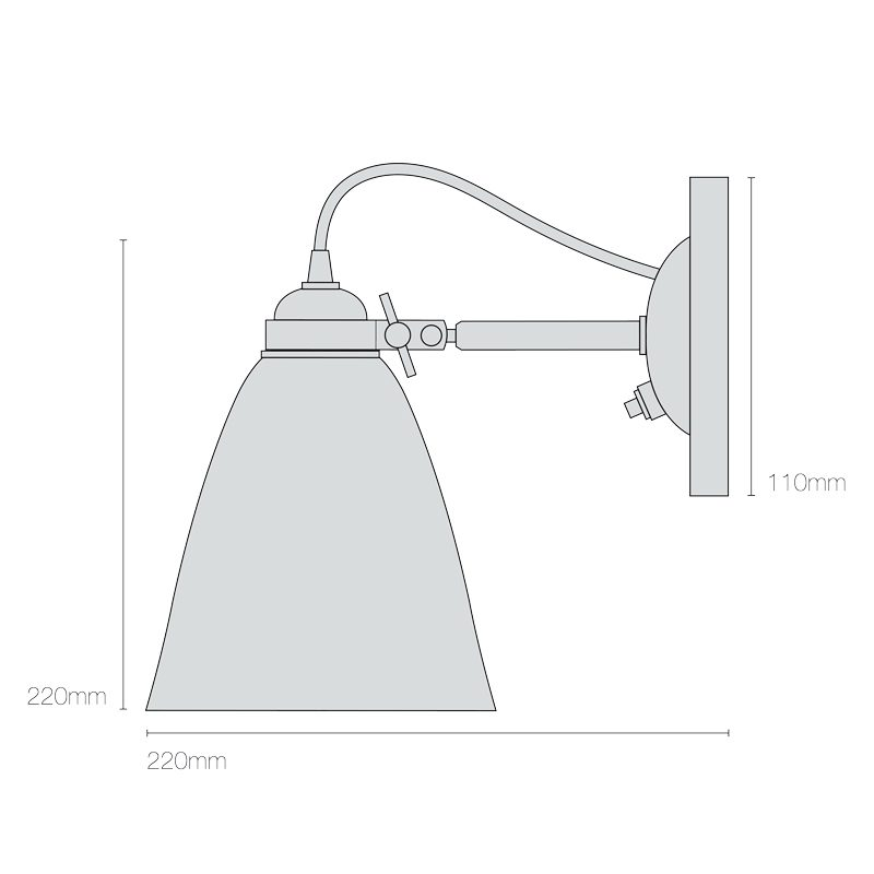 Original Btc Linear Switched Wall Light Line Drawing