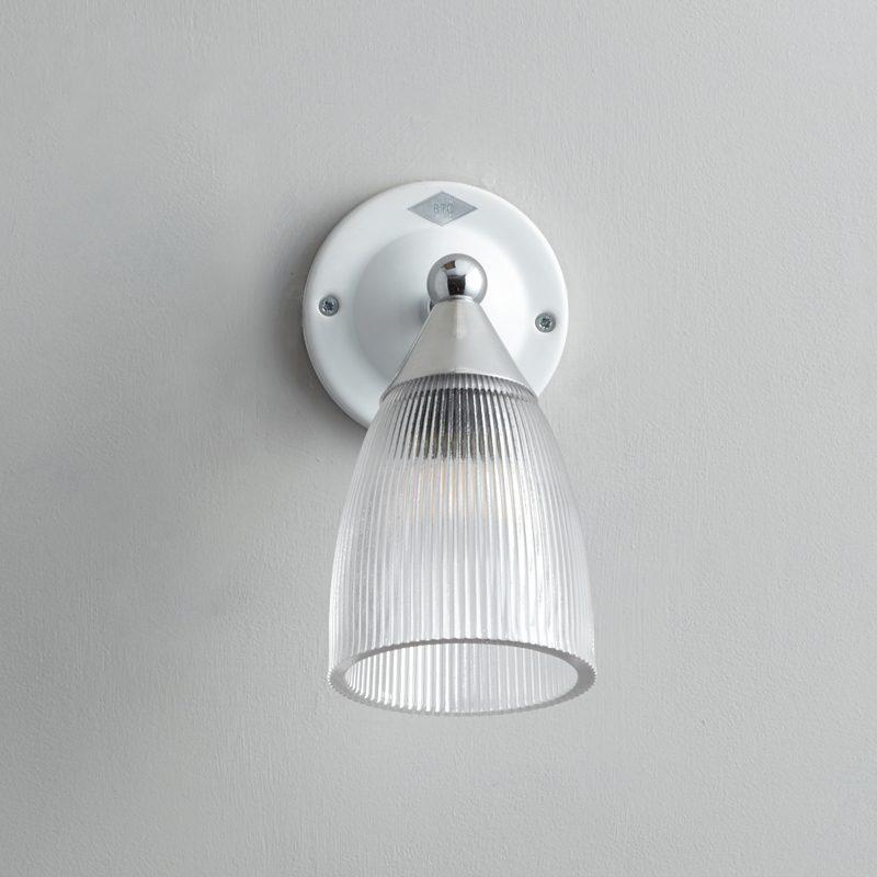 Original Btc Mann Prismatic Switched Wall Light White B Off