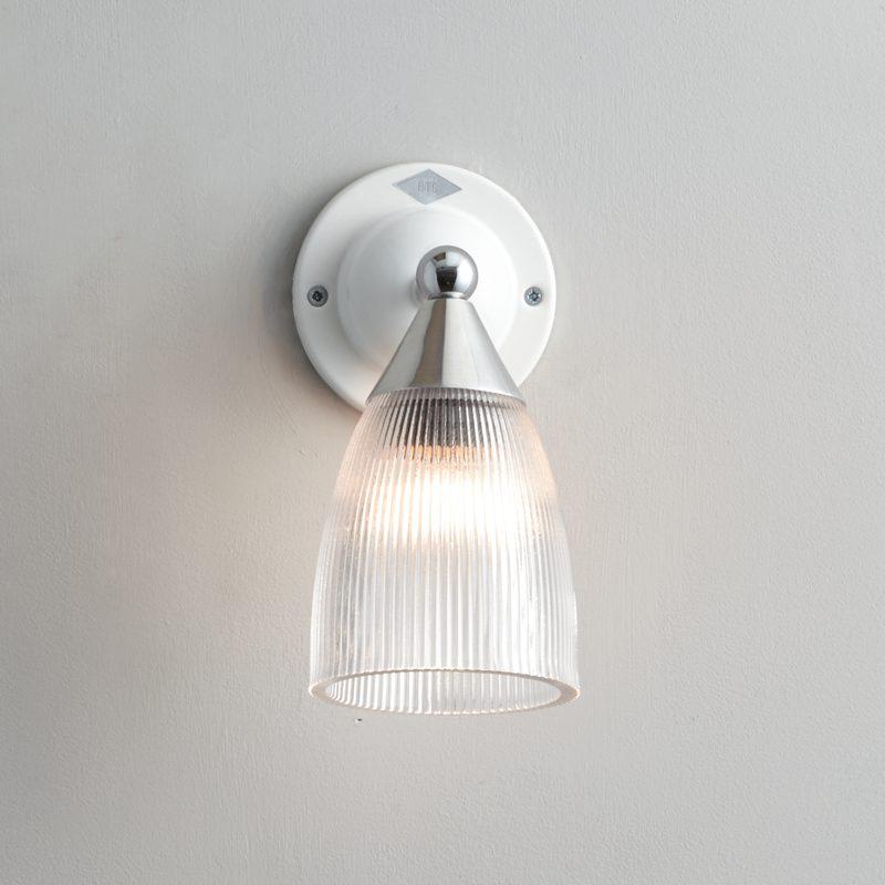 Original Btc Mann Prismatic Wall Light White B On