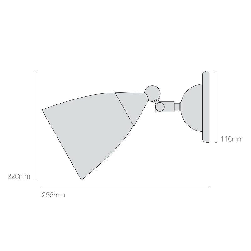 Original Btc Mann Prismatic Wall Light Line Drawing