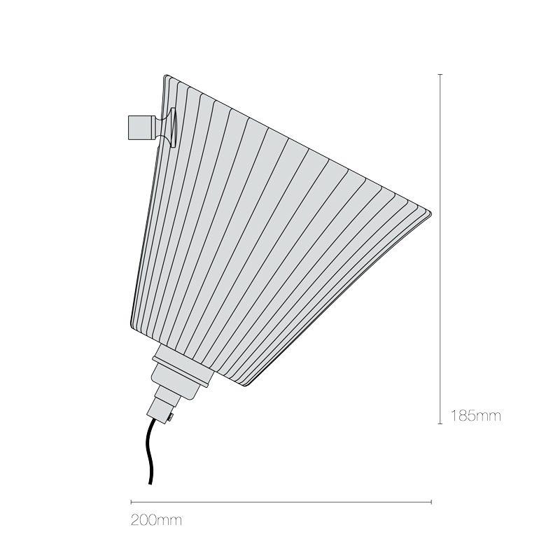 Original Btc Portable Pleat Large Wall Light Line Drawing