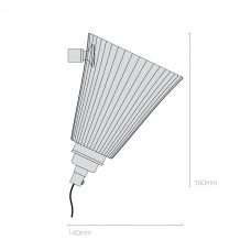 Original Btc Portable Pleat Medium Wall Light Line Drawing