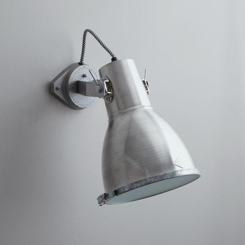 Original Btc Stirrup 2 Wall Light Aluminium B