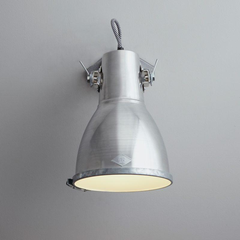 Original Btc Stirrup 2 Wall Light Aluminium C
