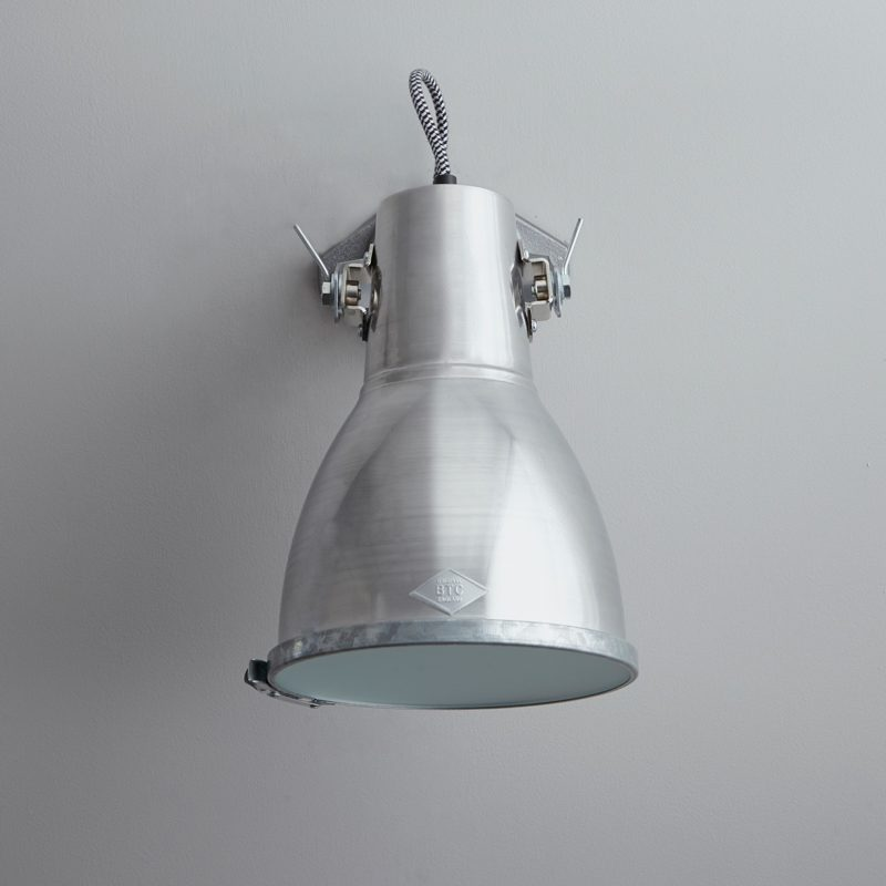 Original Btc Stirrup 2 Wall Light Aluminium D