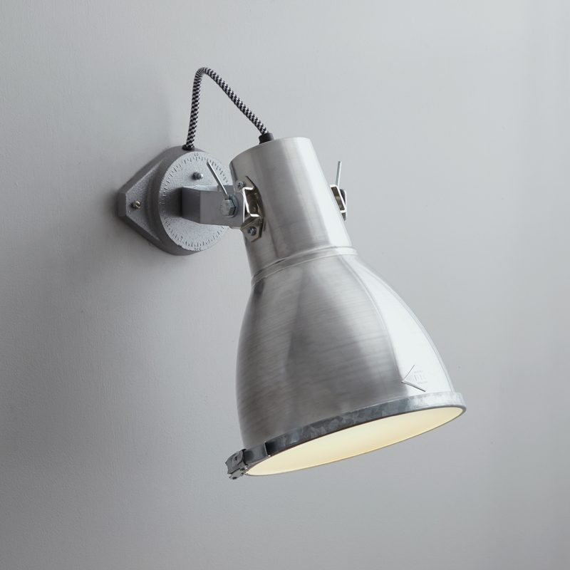 Original Btc Stirrup 2 Wall Light Aluminium