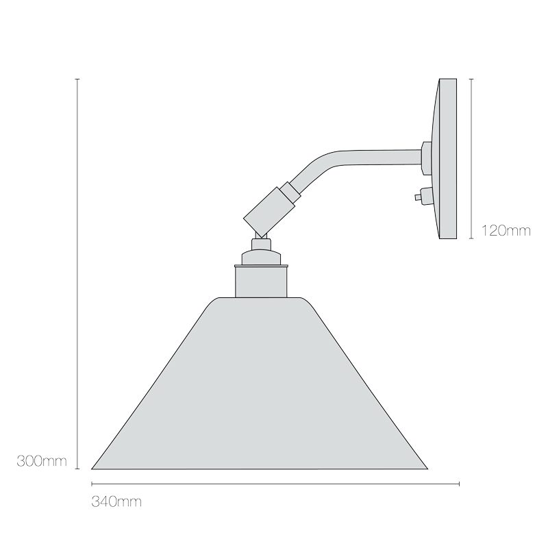 Original Btc Task Short Wall Light Line Drawing