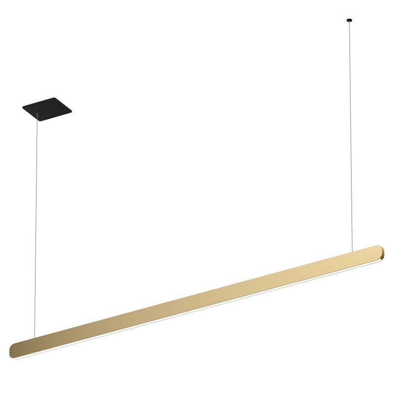 Occhio Mito Volo 140 Flat Pendant Light Bronze Black Base