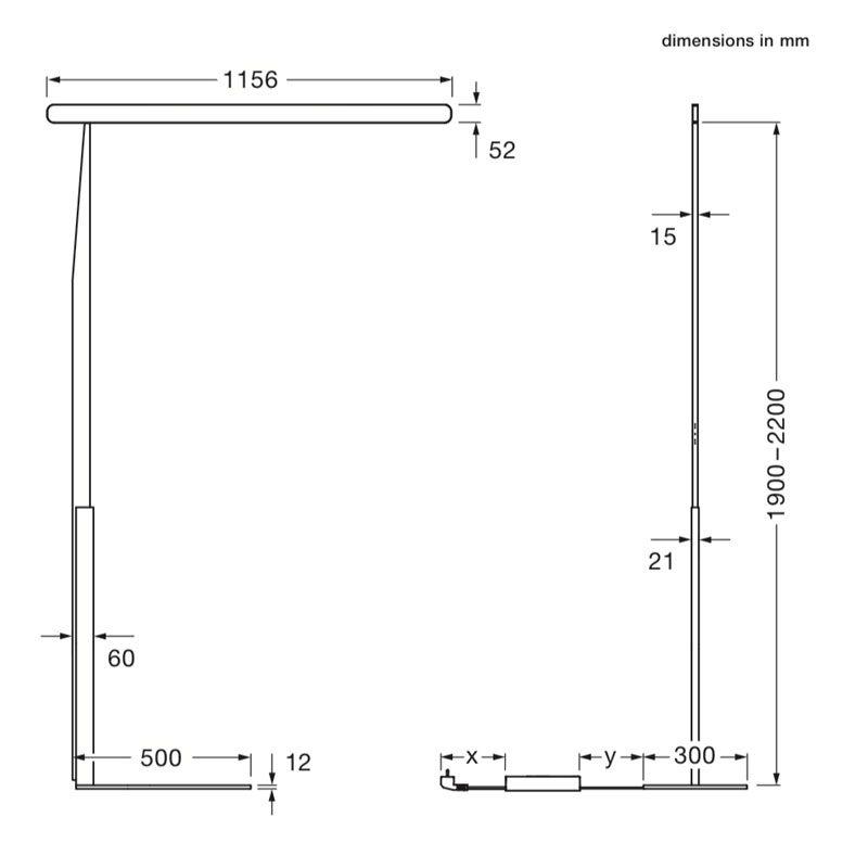 Occhio Mito Terra Floor Lamp Line Drawing