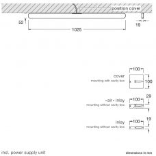 Occhio Mito Alto 100 Up Ceiling Light Line Drawing