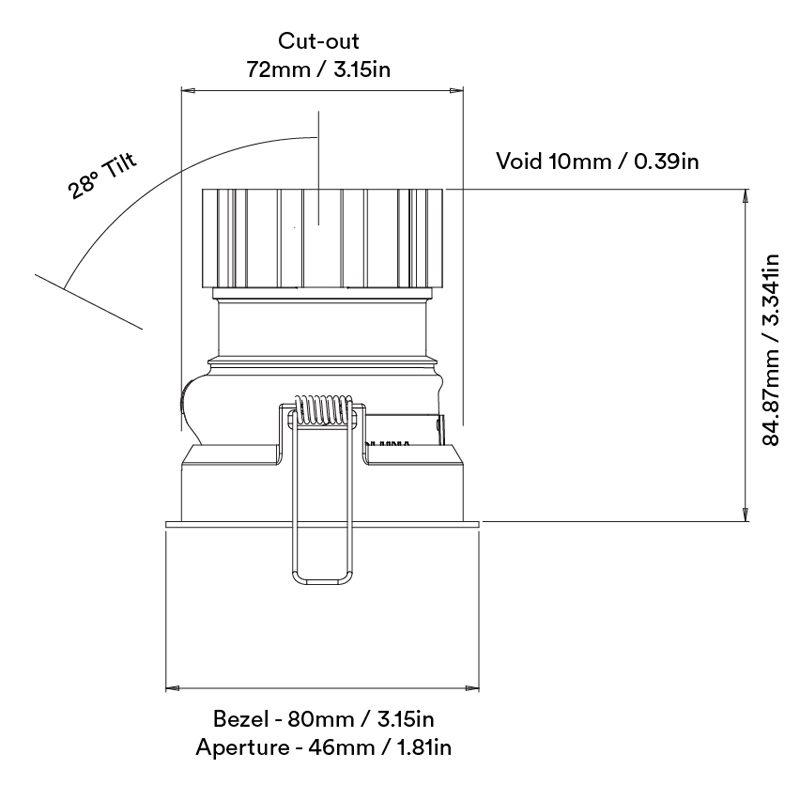 Orluna Suri Adjustabledownlight Line Drawing A