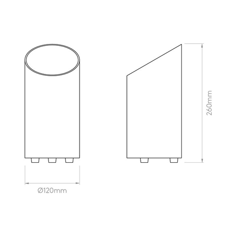 Astro Cut Floor Uplighter Line Drawing