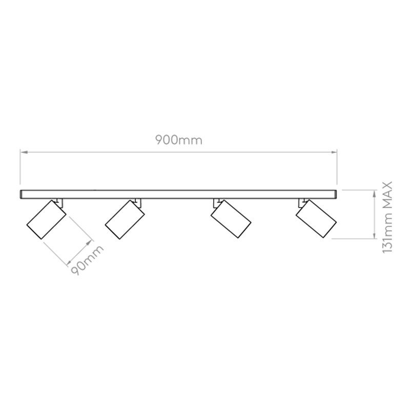 Astro Can 50 Four Bar Spotlight Line Drawing
