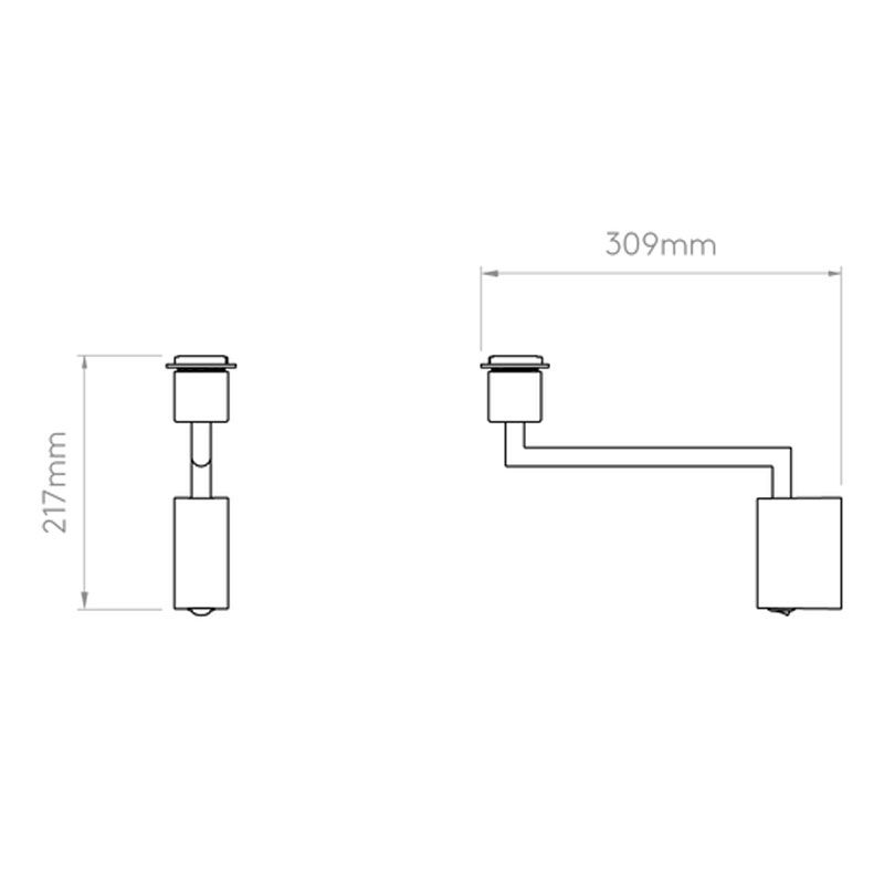 Astro Telegraph Swing Wall Light Line Drawing