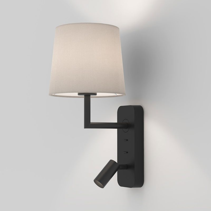 Astro Side By Side Wall Light Black