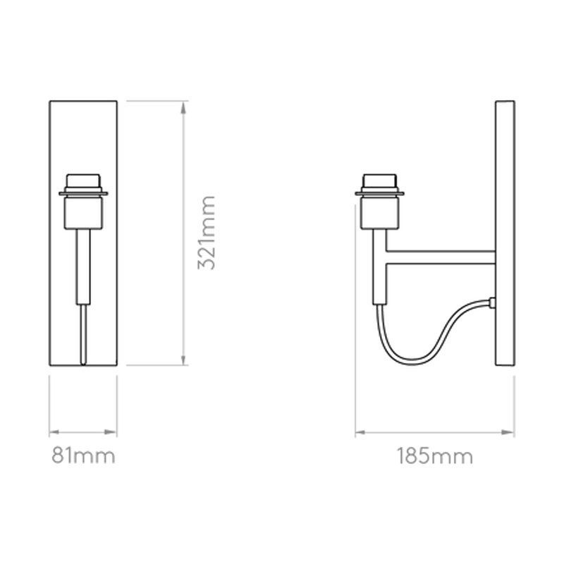 Astro Telegraph Swing Wall Light Line Drawing1