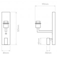 Astro Telegraph Reader Led Wall Light Line Drawing