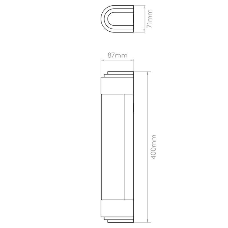 Astro Belgravia 400 Led Bathroom Line Drawing