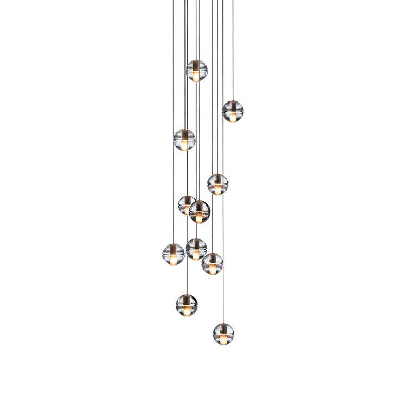 Bocci 14.11 Square Glass Pendant Light Clear