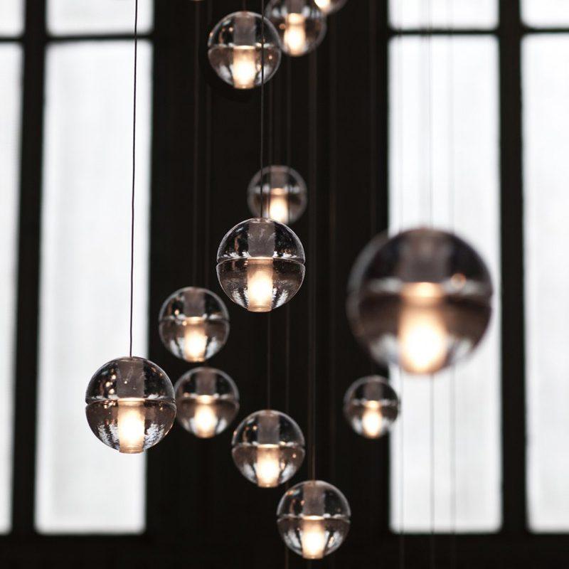 Bocci 14.11 Rectangular Glass Pendant Light Clear C