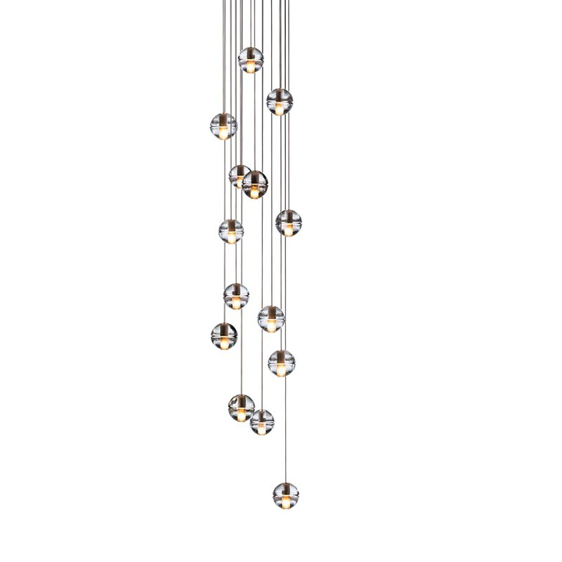 Bocci 14.14 Round Glass Pendant Light Clear