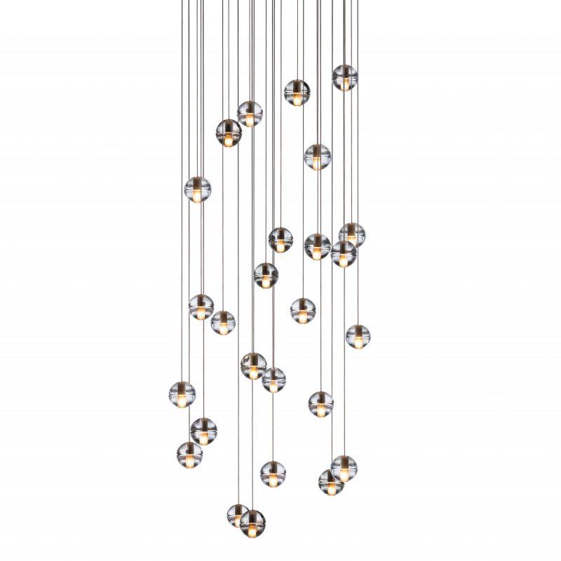 Bocci 14.26 Rectangular Glass Pendant Light Clear