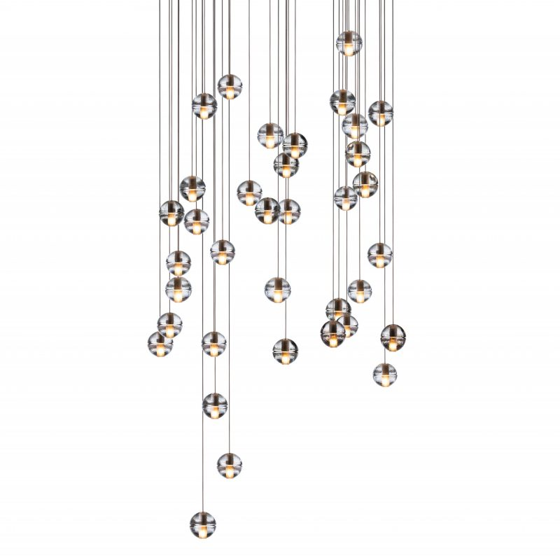 Bocci 14.36 Rectangular Glass Pendant Light Clear