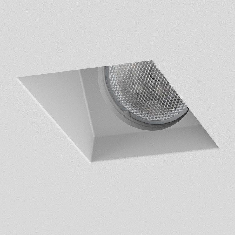 Astro Blanco Square Adjustable Plaster Downlight Matt White Off B