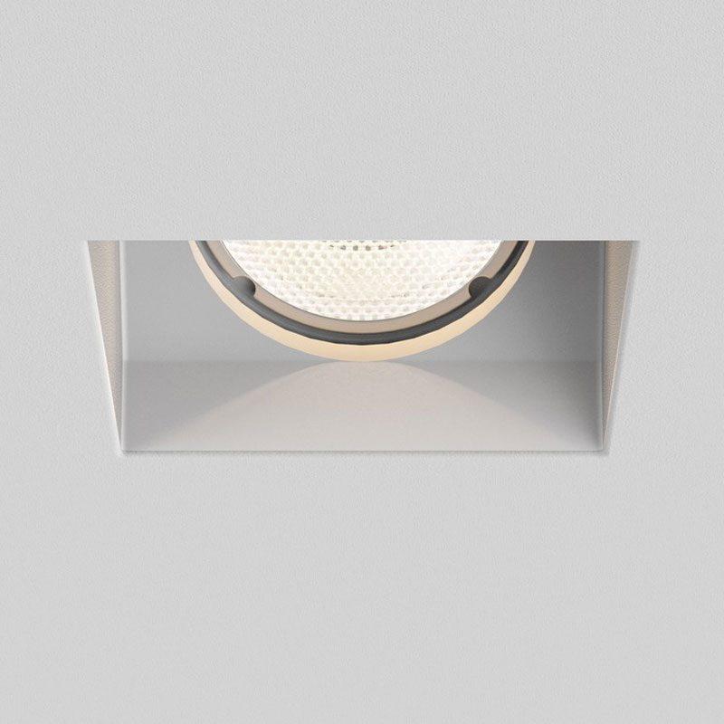 Astro Blanco Square Adjustable Plaster Downlight Matt White On