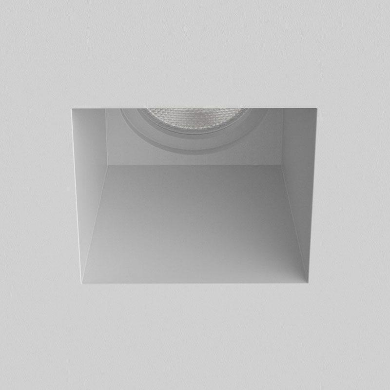 Astro Blanco Square Fixed Plaster Downlight Matt White Off