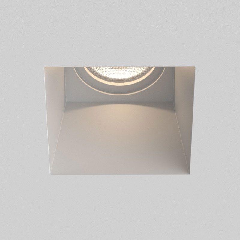 Astro Blanco Square Fixed Plaster Downlight Matt White On