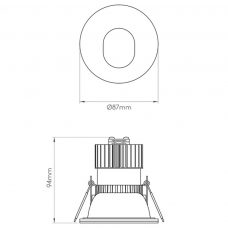 Astro Mayfair Adjustable Downlight Line Drawing