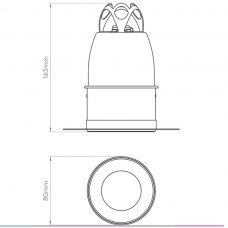 Astro Void 80 Downlight Line Drawing