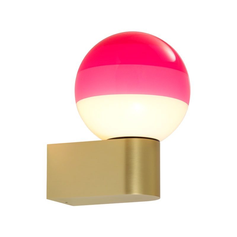 Marset Dipping A1 13 Wall Light Brushed Brass Pink