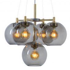 Belid Lighting Gloaria 670 Pendant Brass Smoke