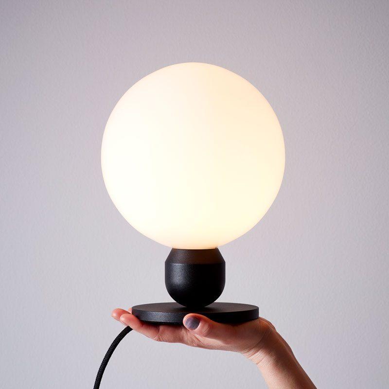 Belid Lighting Atom Table Lamp Black B