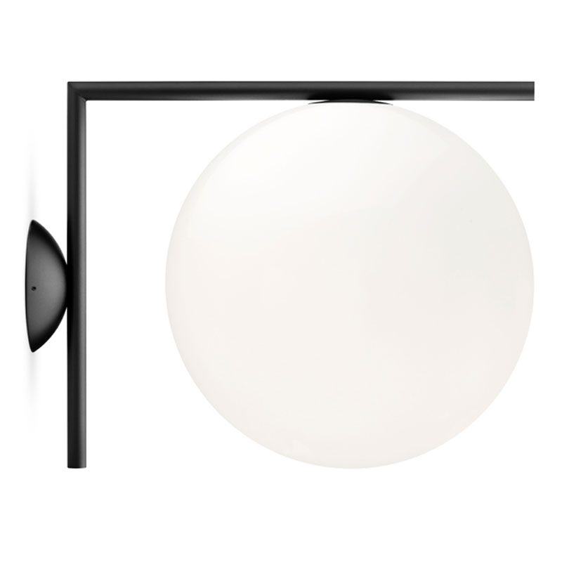 Flos Ic Light Cw2 Wall Light Matt Black