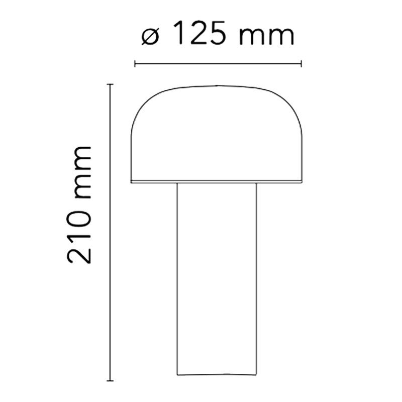 Flos Bellhop Battery Table Lamp Line Drawing