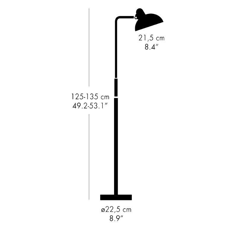 Light Years Kaiser Idell 6580 Floor Light Line Drawing