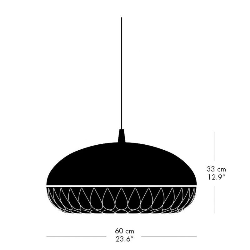 Light Years Aeon Rocket 600 Pendant Line Drawing