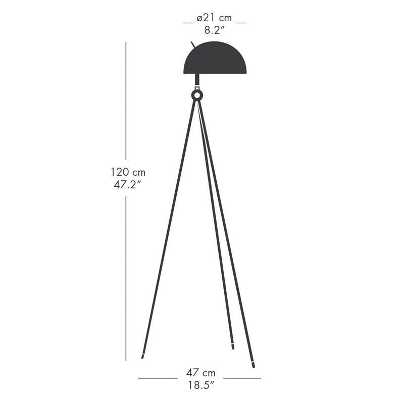 Lamp Years Radon Floor Lamp Line Drawing1
