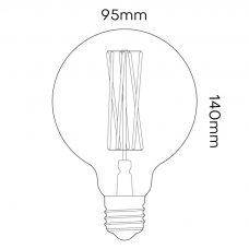 Tala 6w Elva Lamp Line Drawing