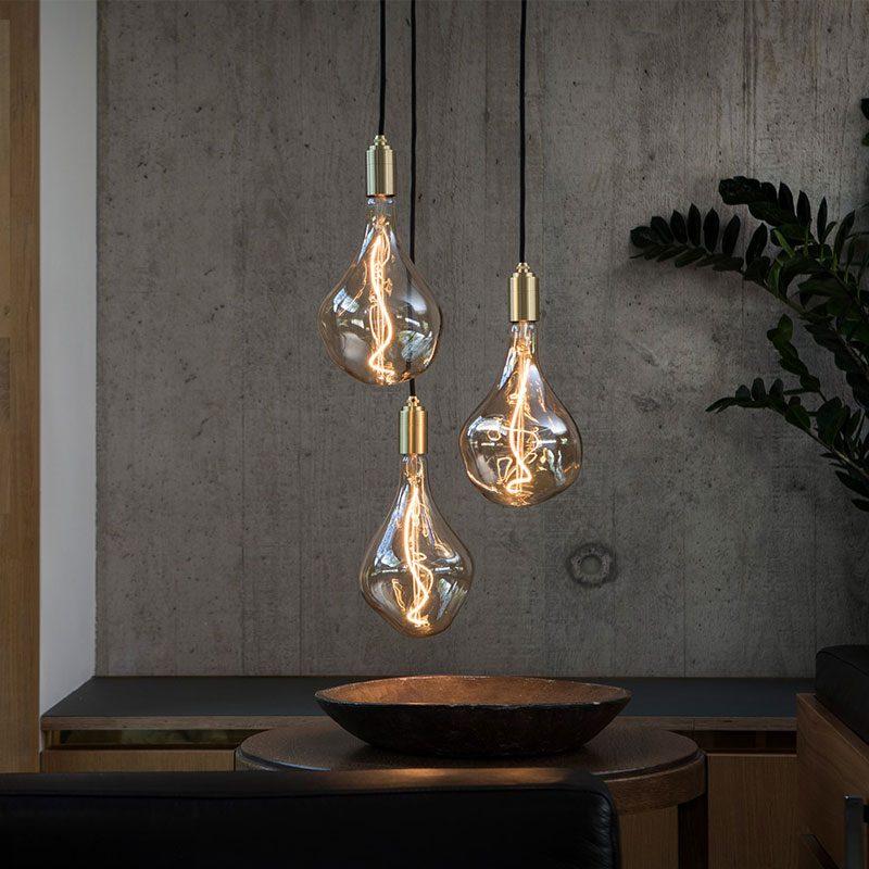 Tala Voronoi Ii Pendant Light Brass B