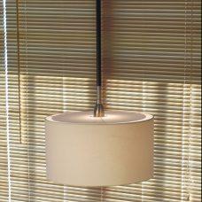 Bover Lighting Danona 1l Pendant Light Nickel Dark Leather
