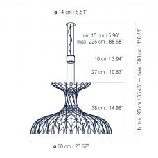 Bover Lighting Dome 6001 Pendant Line Drawing