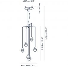 Bover Lighting Drip Drop 6l Pendant Line Drawing