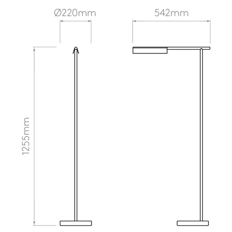 Astro Fold Led Floor Lamp Line Drawing